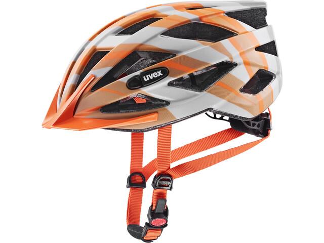 UVEX Air Wing CC Helmet Kids, grijs/oranje
